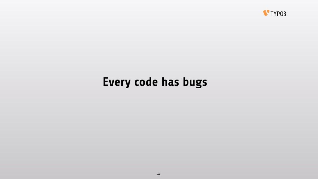 Every code has bugs 64