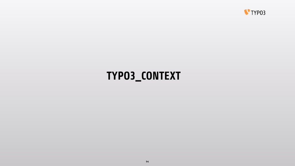 TYPO3_CONTEXT 94