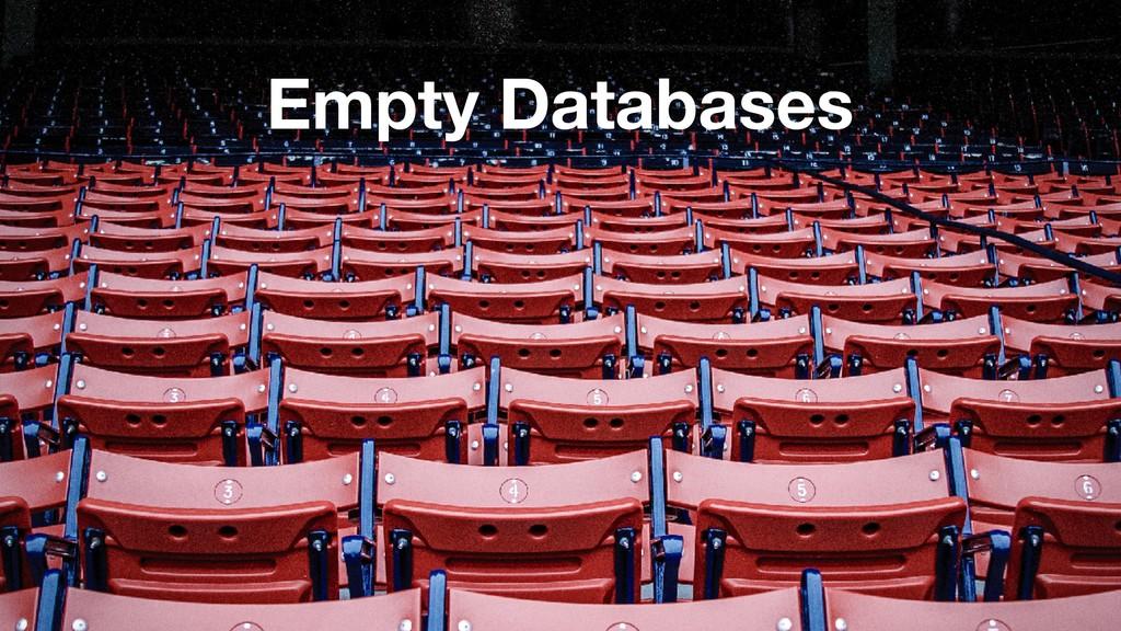 Empty Databases