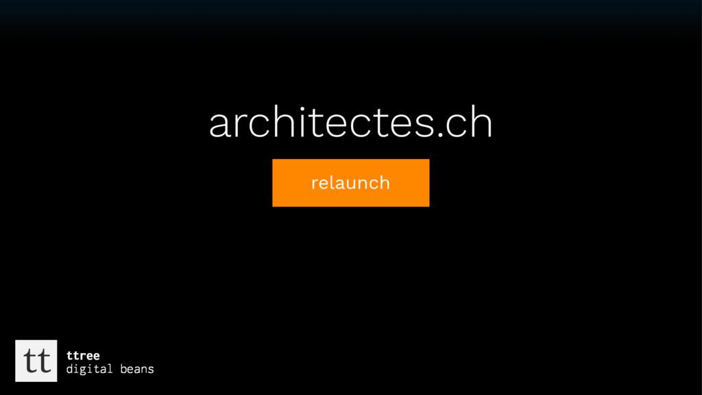 Text architectes.ch relaunch tt ttree digital b...