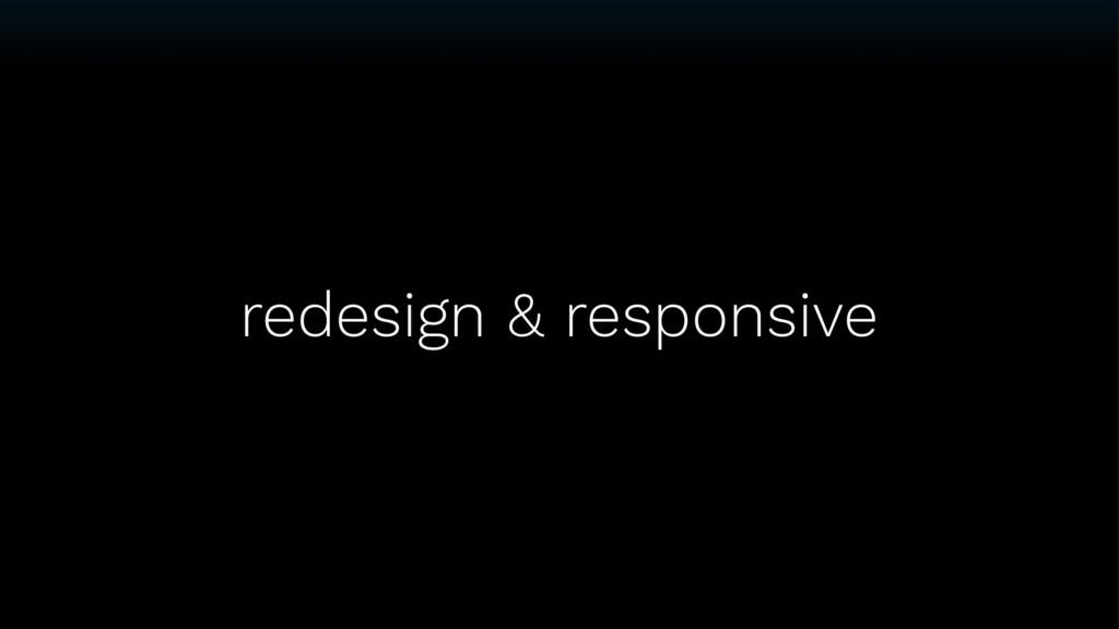 redesign & responsive