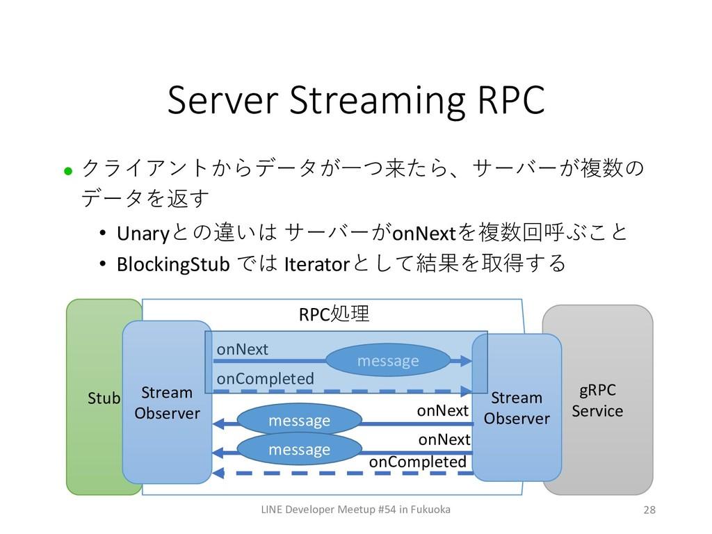 28 Server Streaming RPC LINE Developer Meetup #...