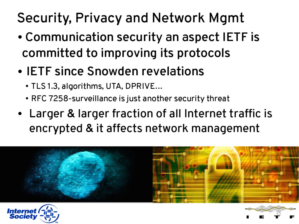 Security, Privacy and Network Mgmt • Communicat...