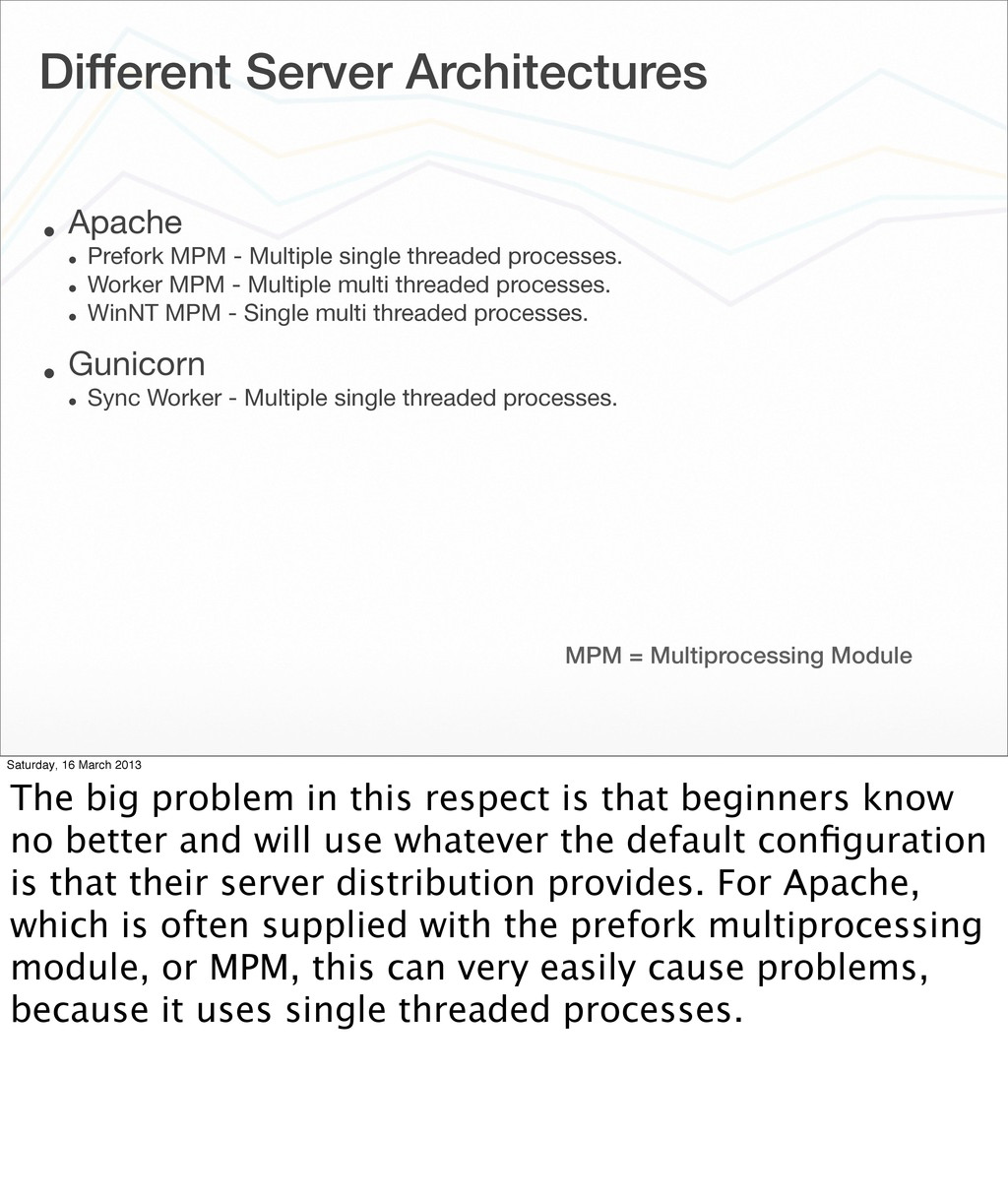 Different Server Architectures • Apache • Prefo...