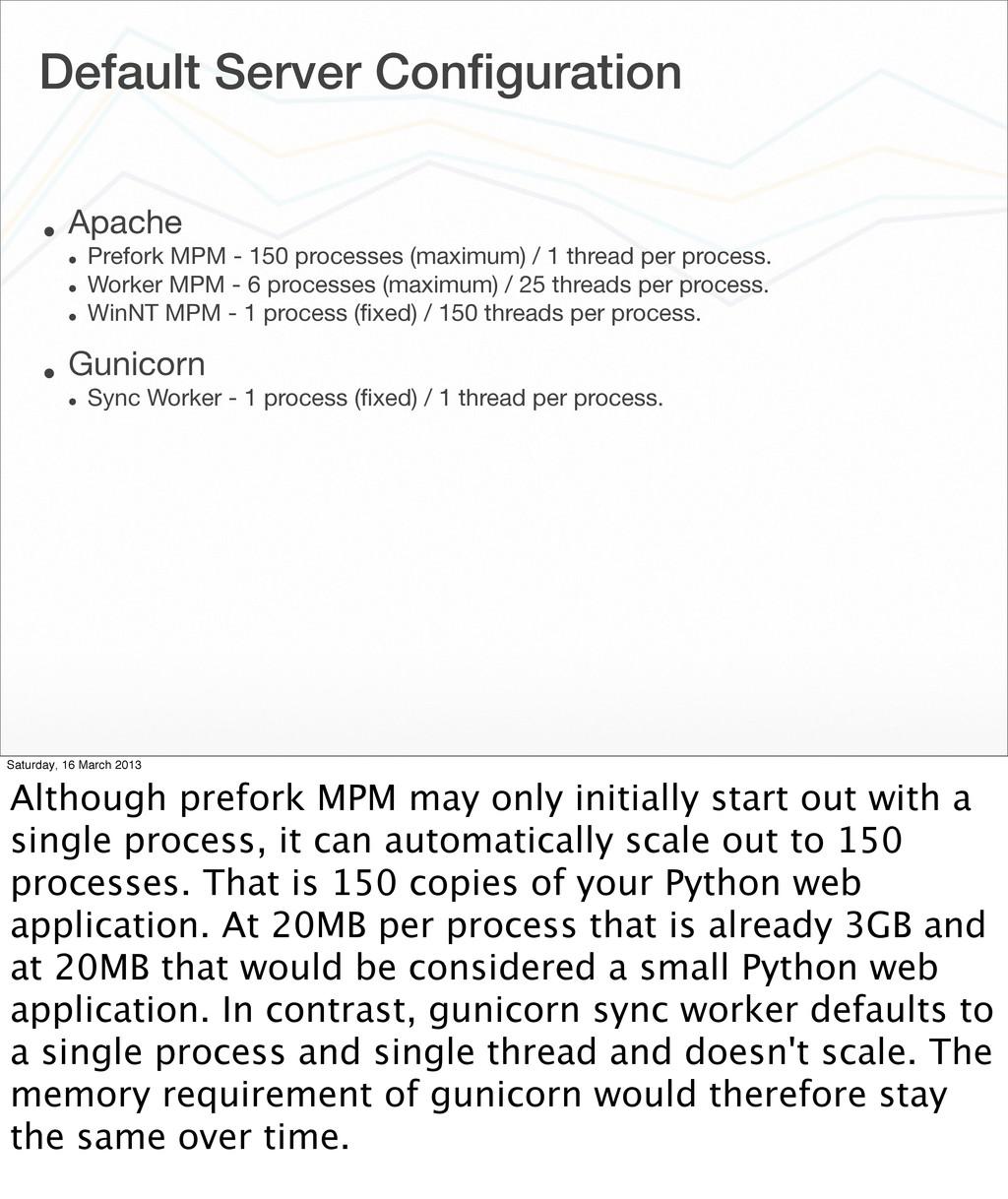 Default Server Configuration • Apache • Prefork ...