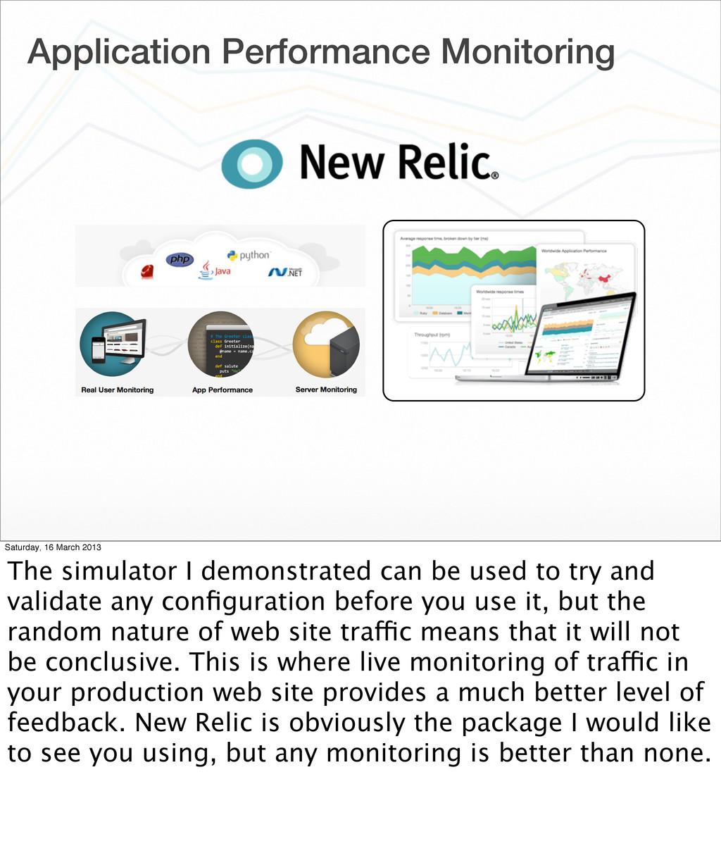 Application Performance Monitoring Saturday, 16...