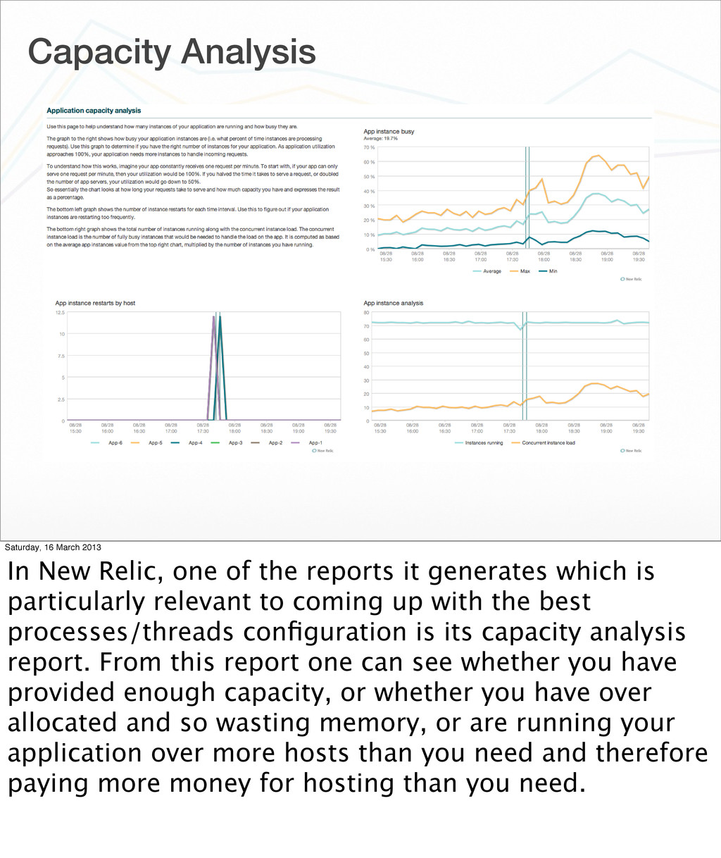 Capacity Analysis Saturday, 16 March 2013 In Ne...