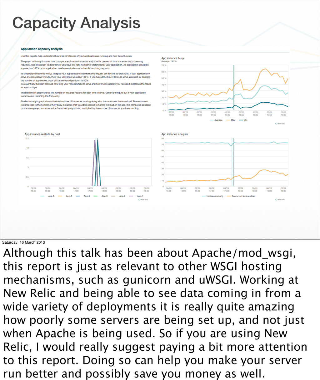 Capacity Analysis Saturday, 16 March 2013 Altho...