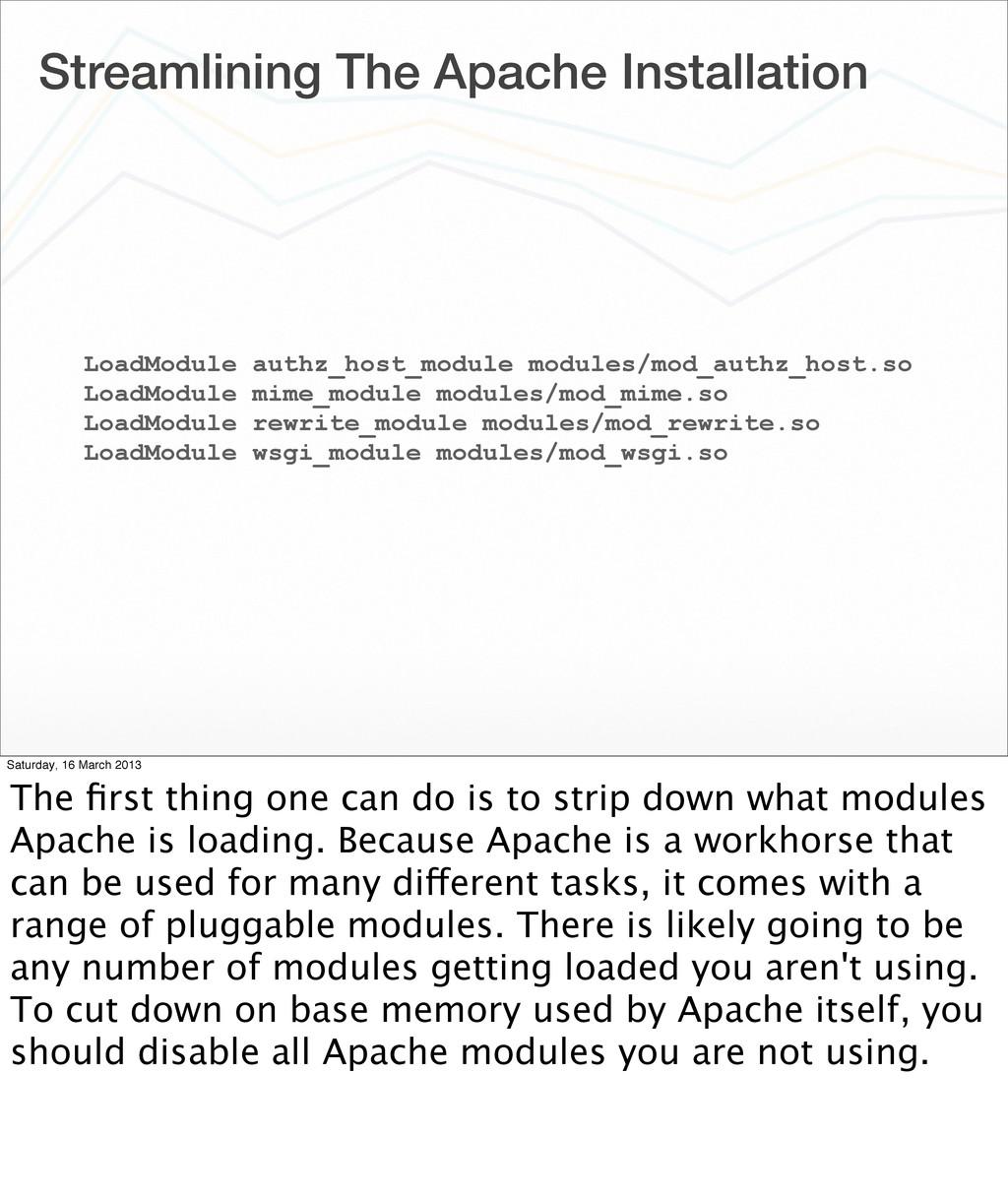 Streamlining The Apache Installation LoadModule...