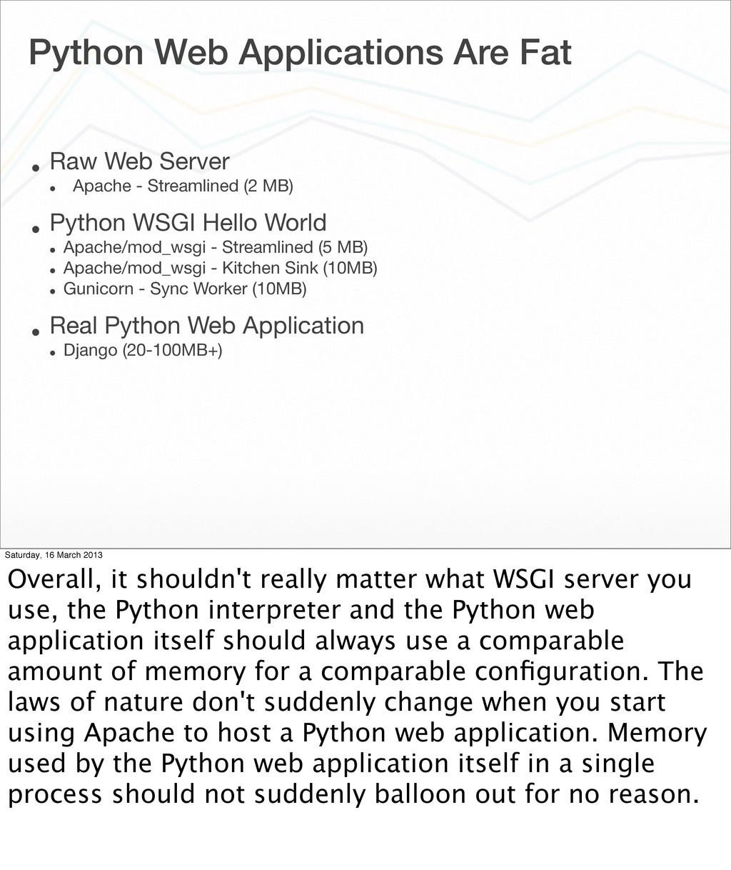 Python Web Applications Are Fat • Raw Web Serve...