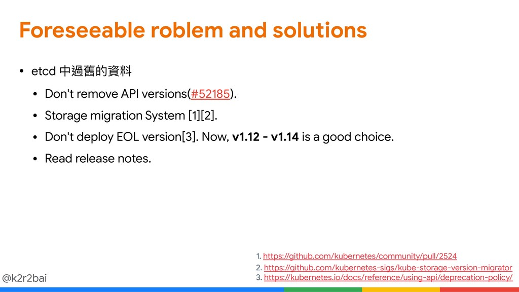 @k2r2bai Foreseeable roblem and solutions • etc...