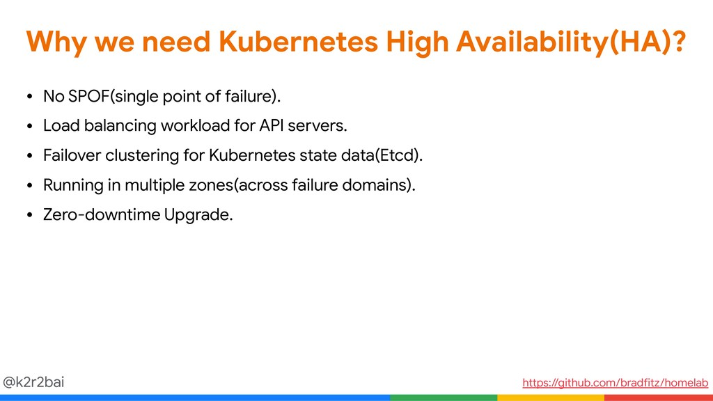 @k2r2bai Why we need Kubernetes High Availabili...
