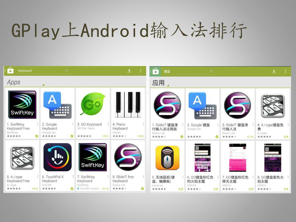 GPlay上Android输入法排行