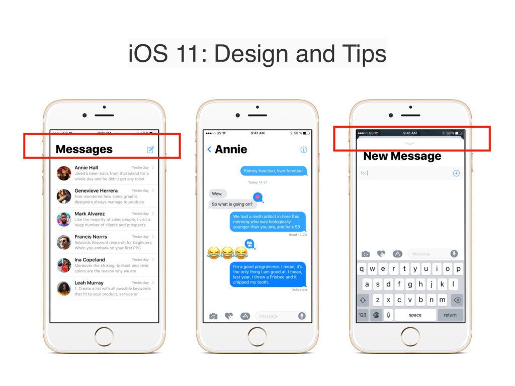 iOS 11: Design and Tips
