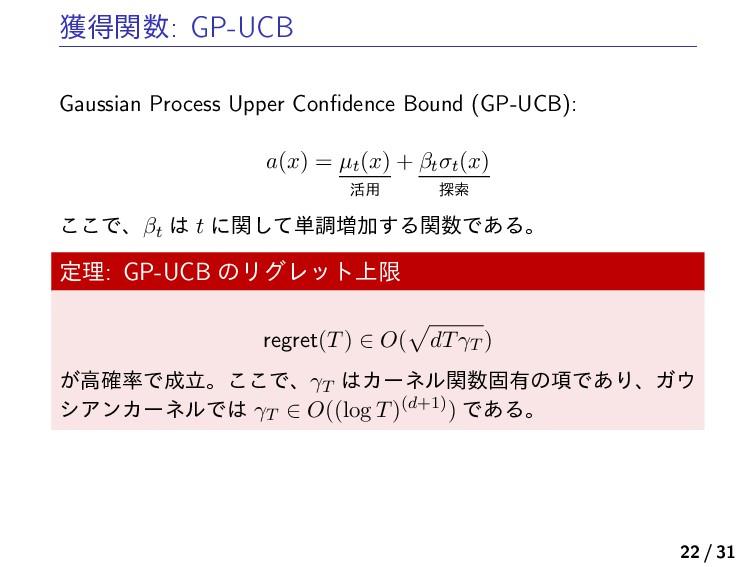 ֫ಘؔ: GP-UCB Gaussian Process Upper Confidence B...