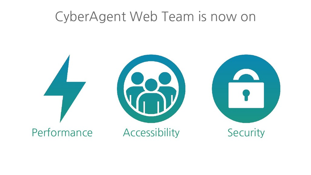 CyberAgent Web Team is now on Performance Acces...