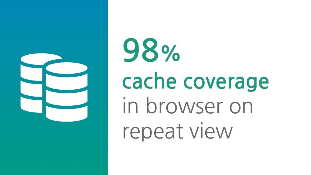 98% cache coverage in browser on repeat view