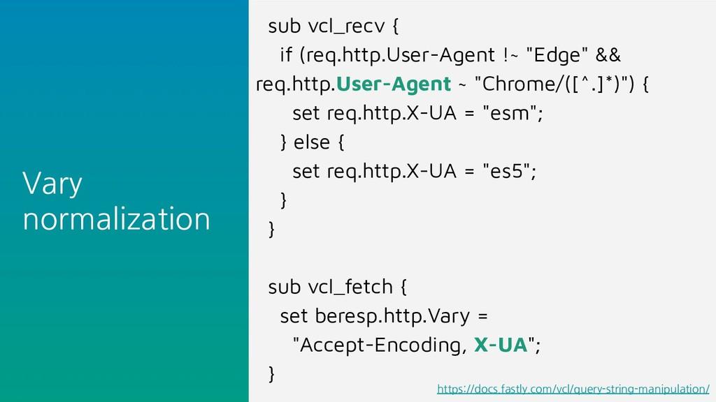 Vary normalization sub vcl_recv { if (req.http....