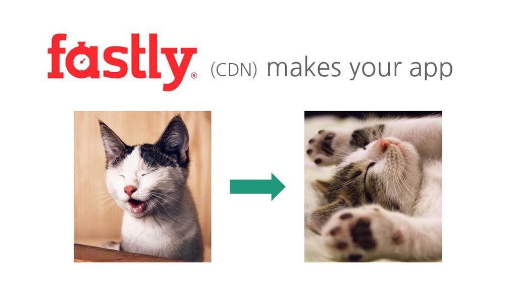 (CDN) makes your app
