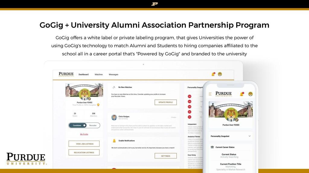 GoGig + University Alumni Association Partnersh...