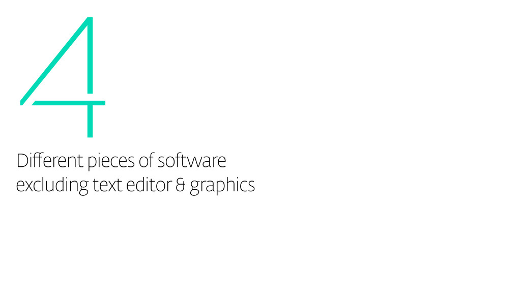 4 Different pieces of software excluding text e...