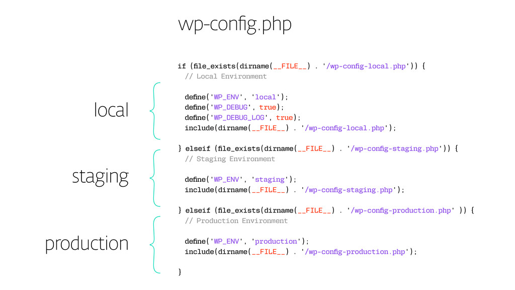 wp-config.php local staging production if (file...