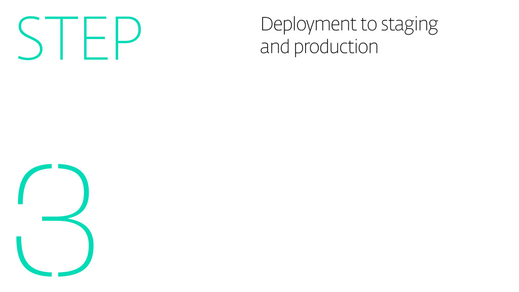 Deployment to staging and production 3 STEP