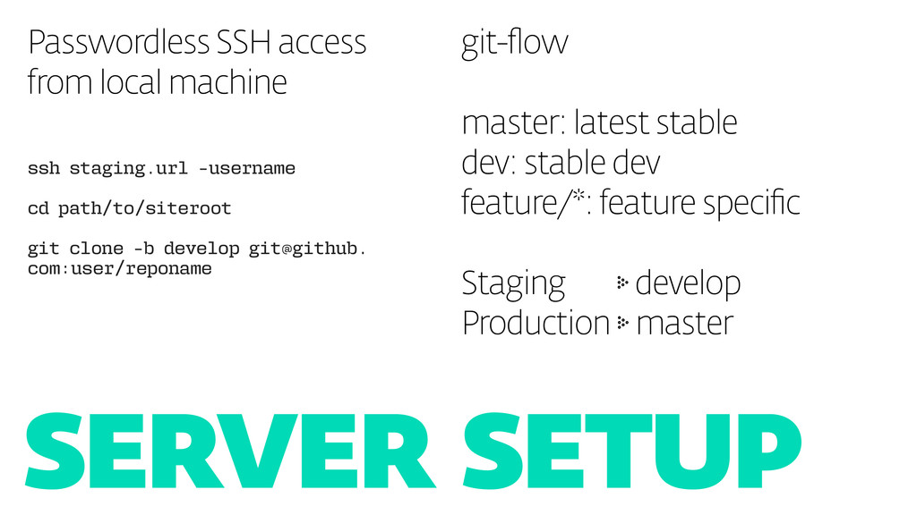 SERVER SETUP Passwordless SSH access from local...