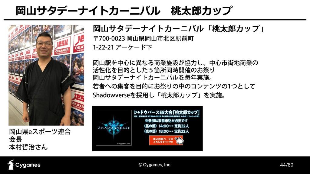 44/80 岡山サタデーナイトカーニバル 桃太郎カップ