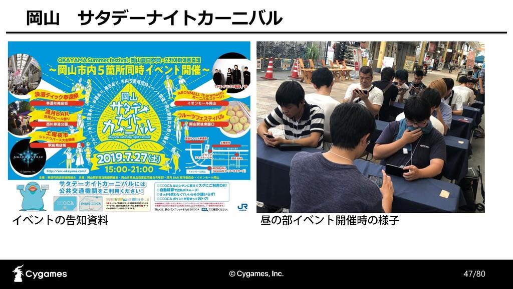 47/80 岡山 サタデーナイトカーニバル