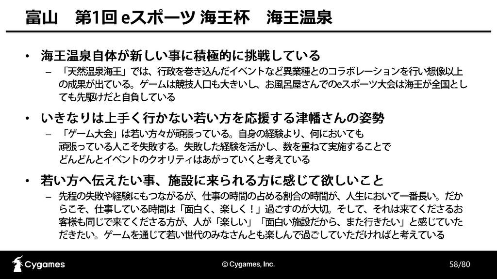 58/80 富山 第 回 スポーツ 海王杯 海王温泉 • – • – • –