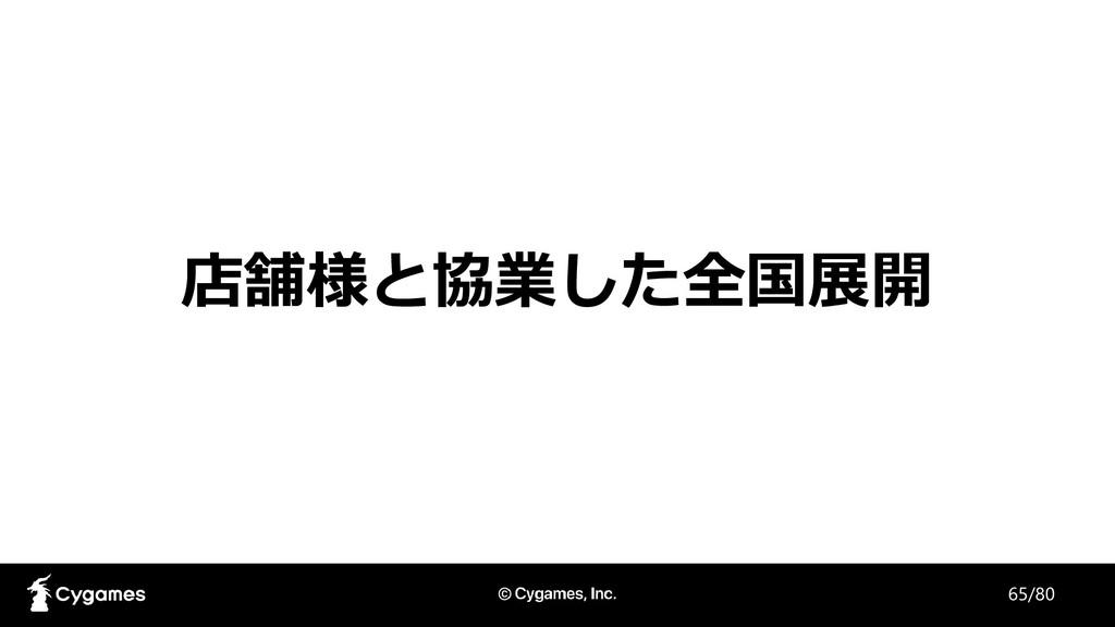 店舗様と協業した全国展開 65/80