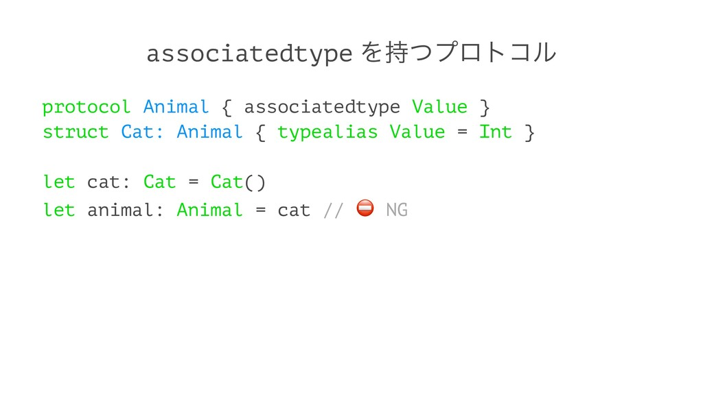 associatedtype Λͭϓϩτίϧ protocol Animal { assoc...