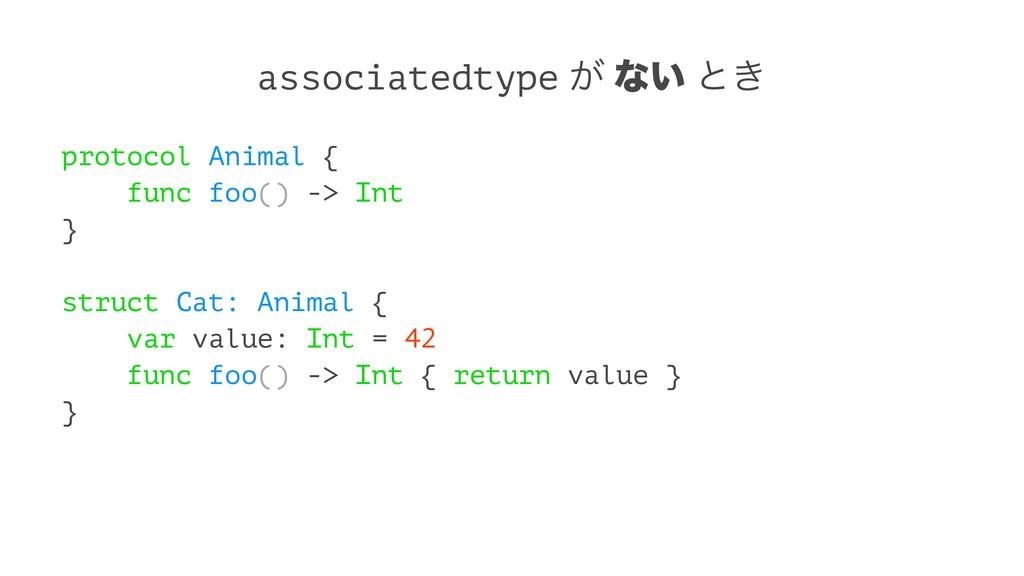 associatedtype ͕ ͳ͍ ͱ͖ protocol Animal { func f...
