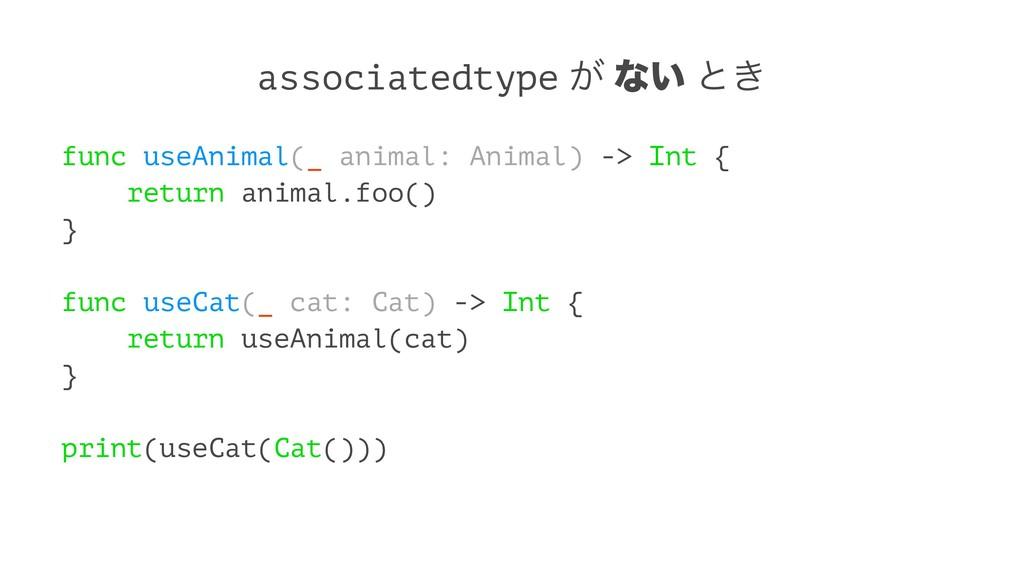 associatedtype ͕ ͳ͍ ͱ͖ func useAnimal(_ animal:...