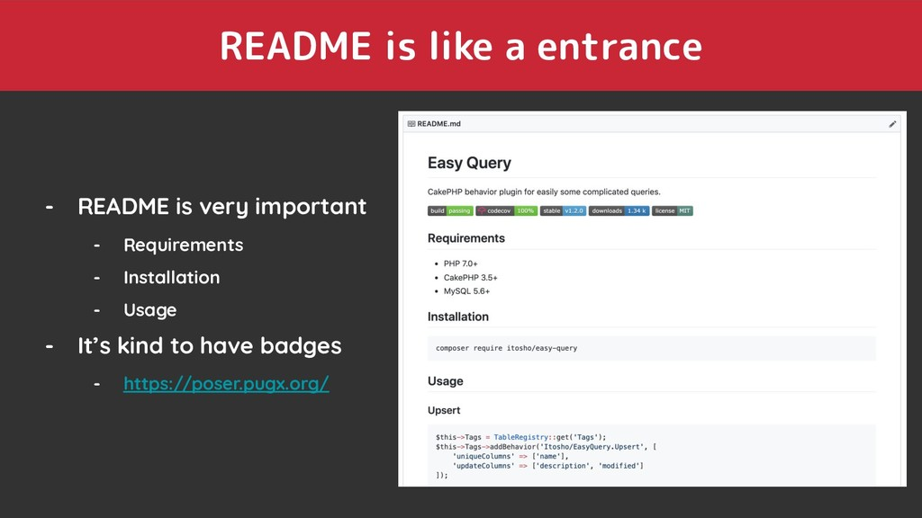 README is like a entrance - README is very impo...
