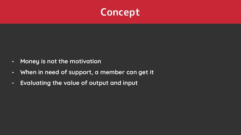 Concept - Money is not the motivation - When in...