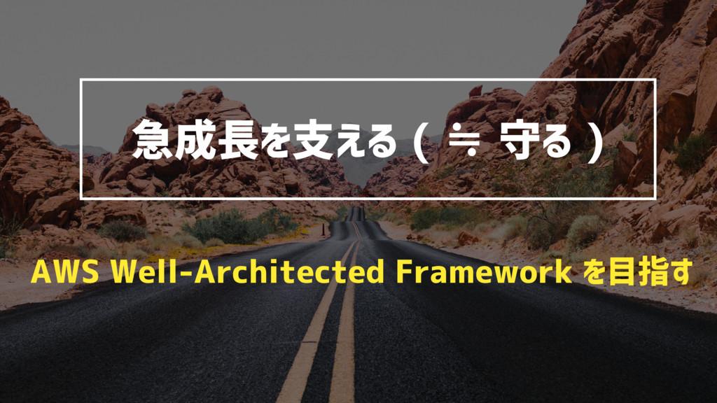 急成長を支える ( ≒ 守る ) AWS Well-Architected Framework...