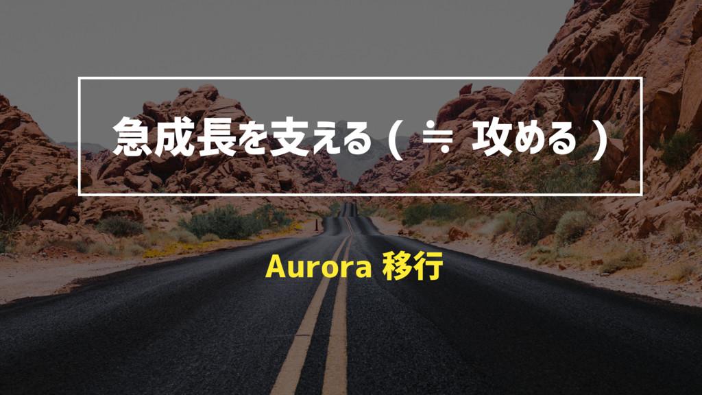 急成長を支える ( ≒ 攻める ) Aurora 移行