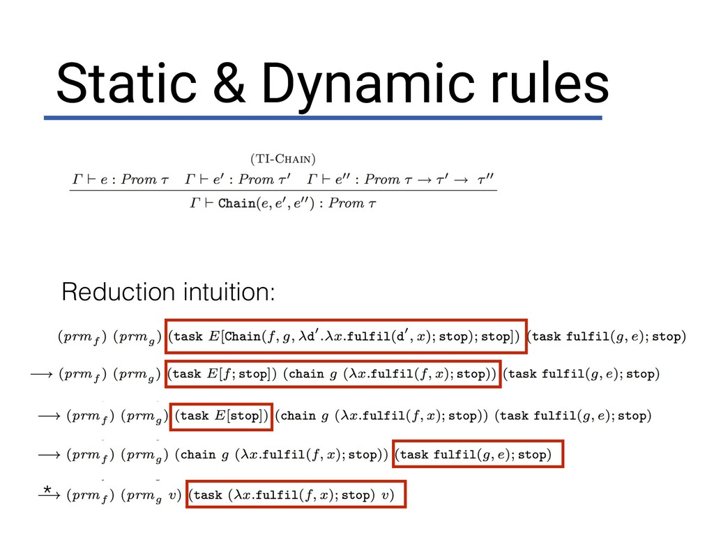 Static & Dynamic rules Reduction intuition: *