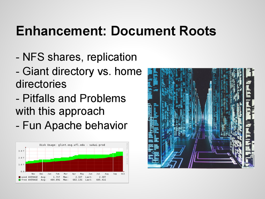 Enhancement: Document Roots - NFS shares, repli...