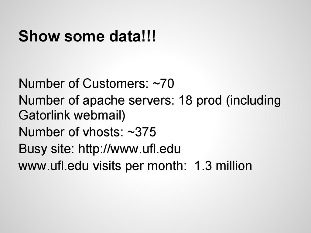 Show some data!!! Number of Customers: ~70 Numb...