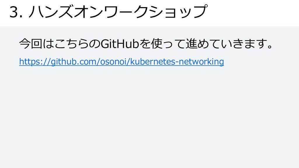 3. ハンズオンワークショップ 今回はこちらのGitHubを使って進めていきます。 https...