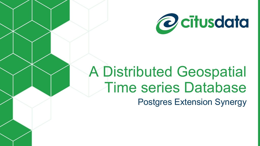 A Distributed Geospatial Time series Database P...