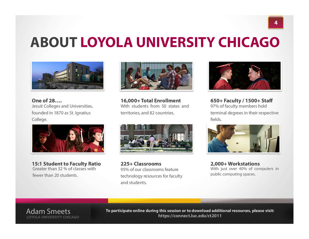 ABOUT LOYOLA UNIVERSITY CHICAGO With students f...