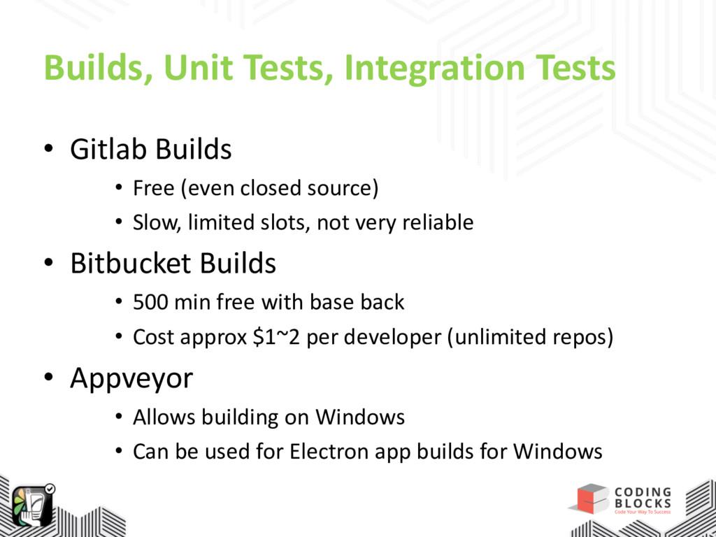 Builds, Unit Tests, Integration Tests • Gitlab ...