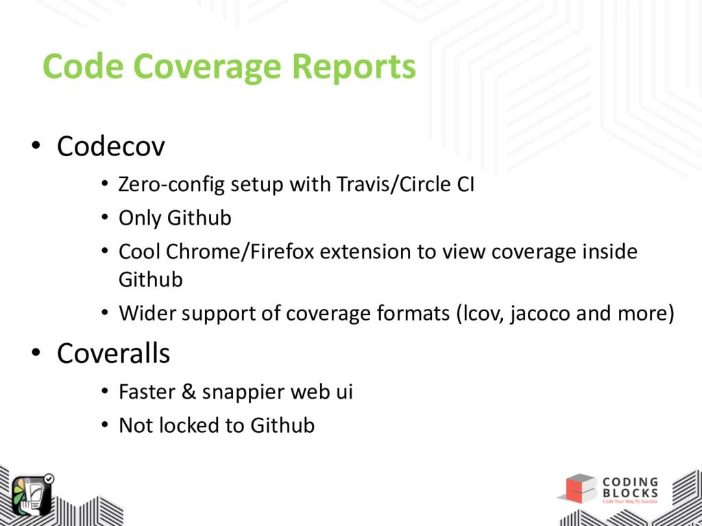 Code Coverage Reports • Codecov • Zero-config s...