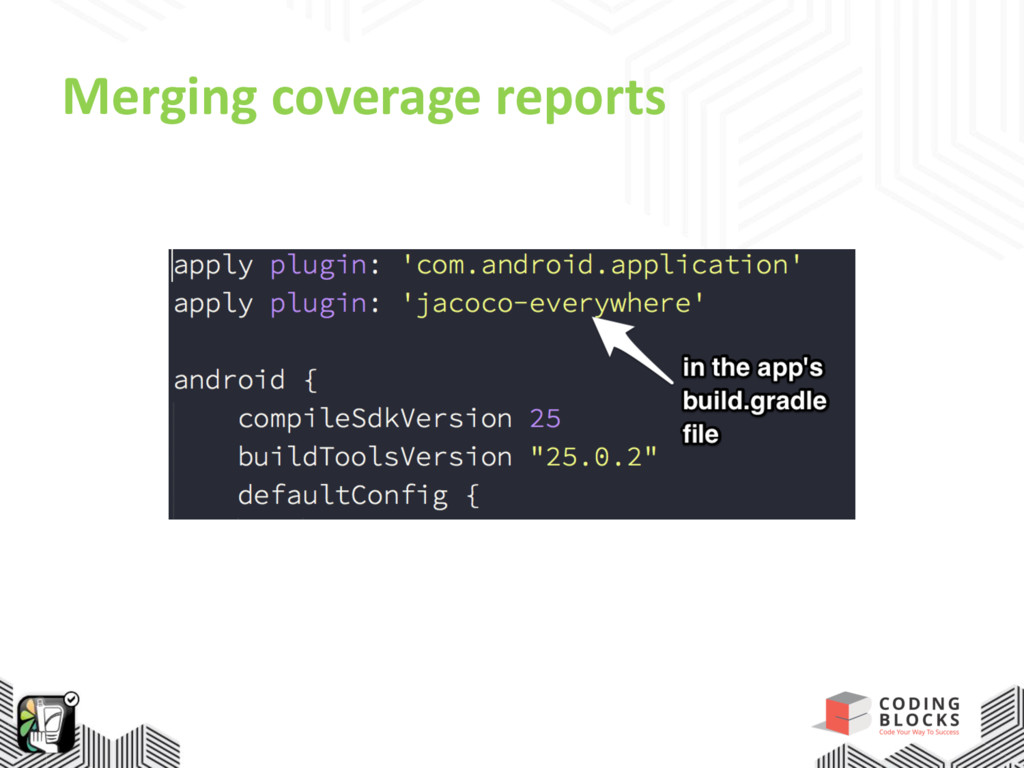 Merging coverage reports