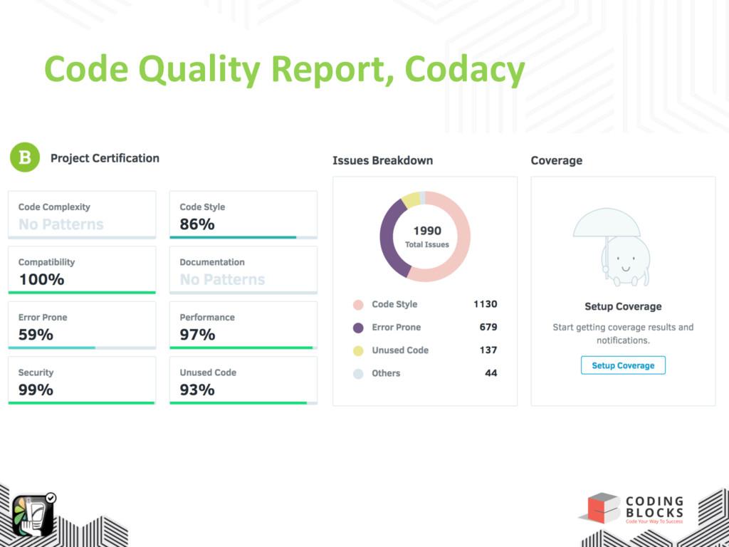 Code Quality Report, Codacy