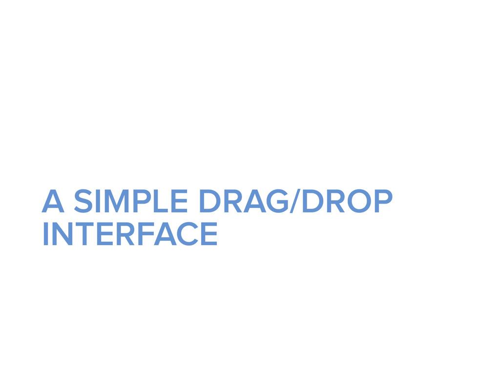 A SIMPLE DRAG/DROP INTERFACE